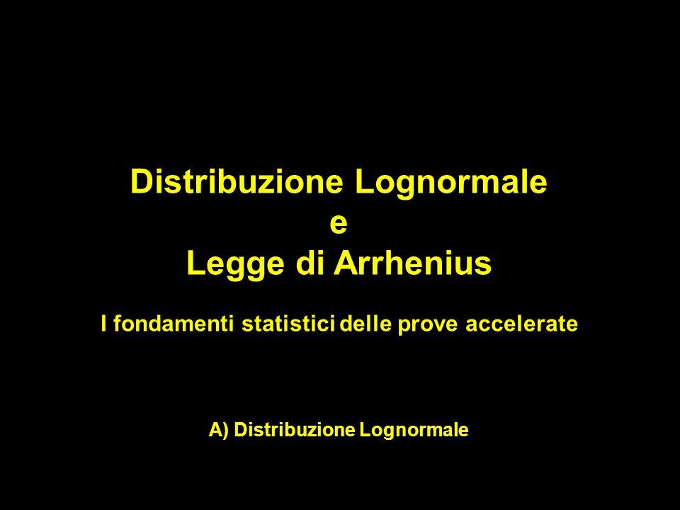 Distribuzione Lognormale e Legge di Arrhenius