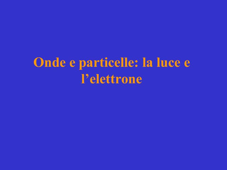 Onde e particelle: la luce e l'elettrone