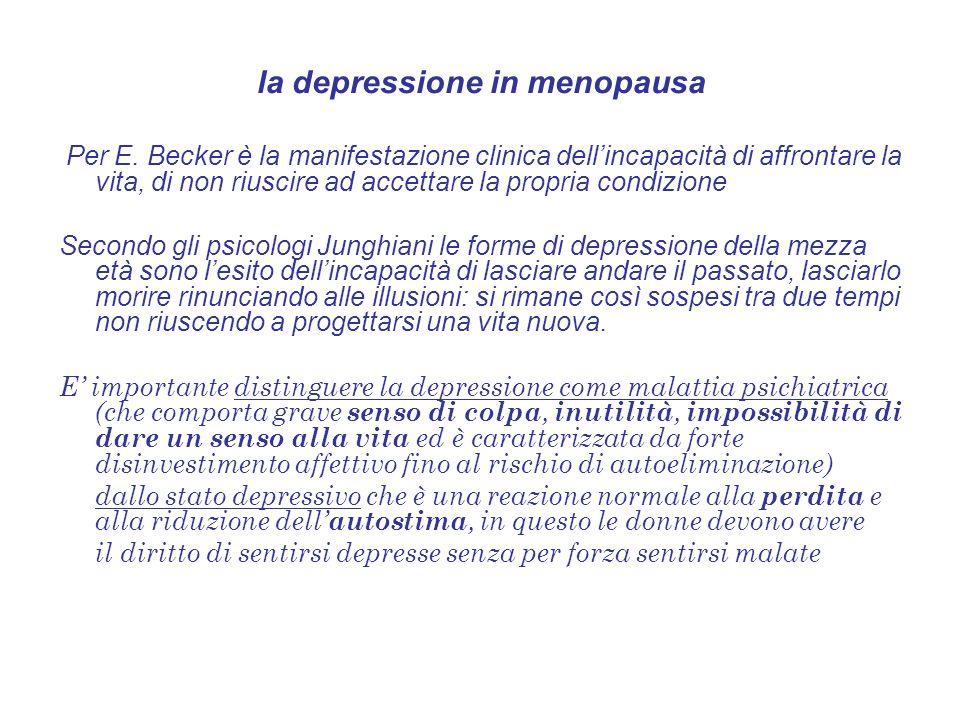 la depressione in menopausa