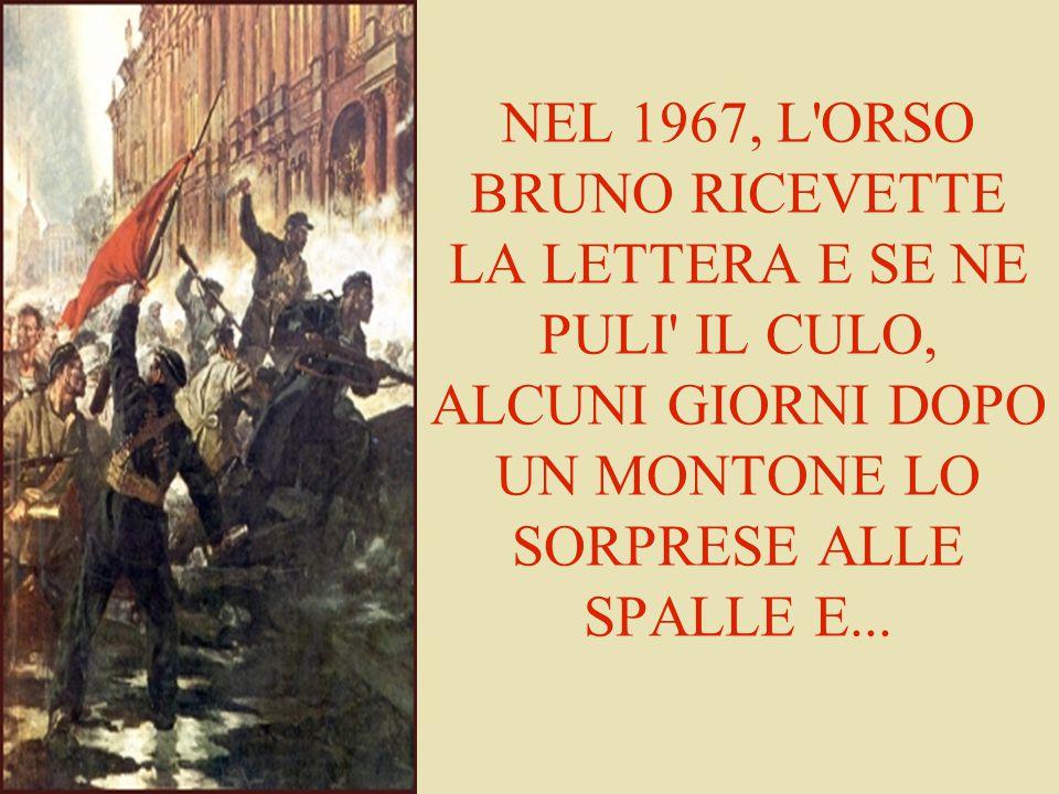 NEL 1967, L ORSO BRUNO RICEVETTE LA LETTERA E SE NE PULI IL CULO, ALCUNI GIORNI DOPO UN MONTONE LO SORPRESE ALLE SPALLE E...