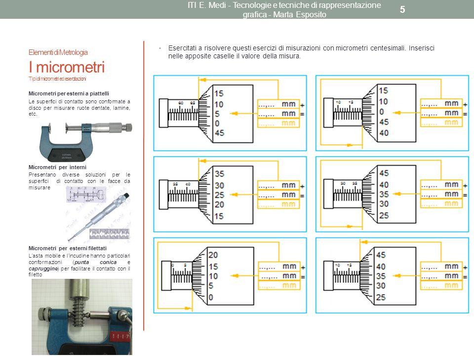 ITI E. Medi - Tecnologie e tecniche di rappresentazione grafica - Marta Esposito