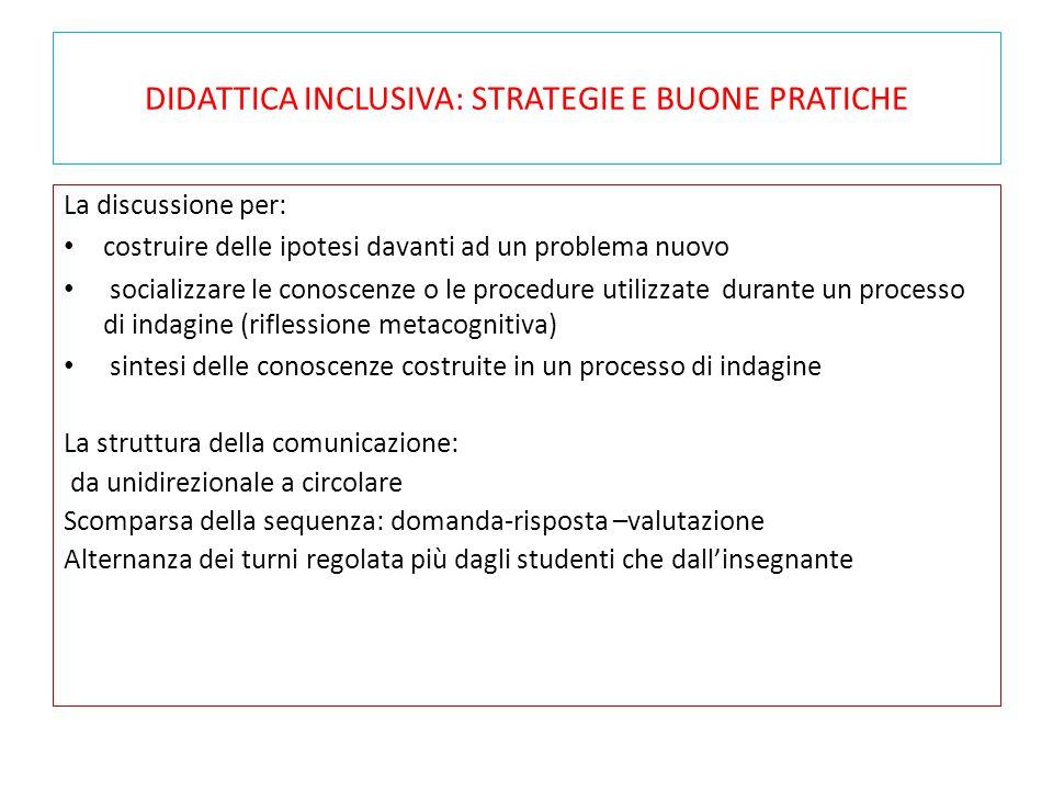 DIDATTICA INCLUSIVA: STRATEGIE E BUONE PRATICHE