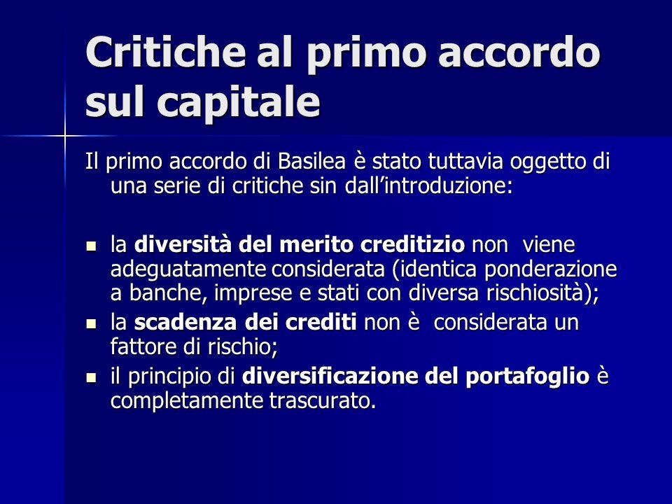 Critiche al primo accordo sul capitale