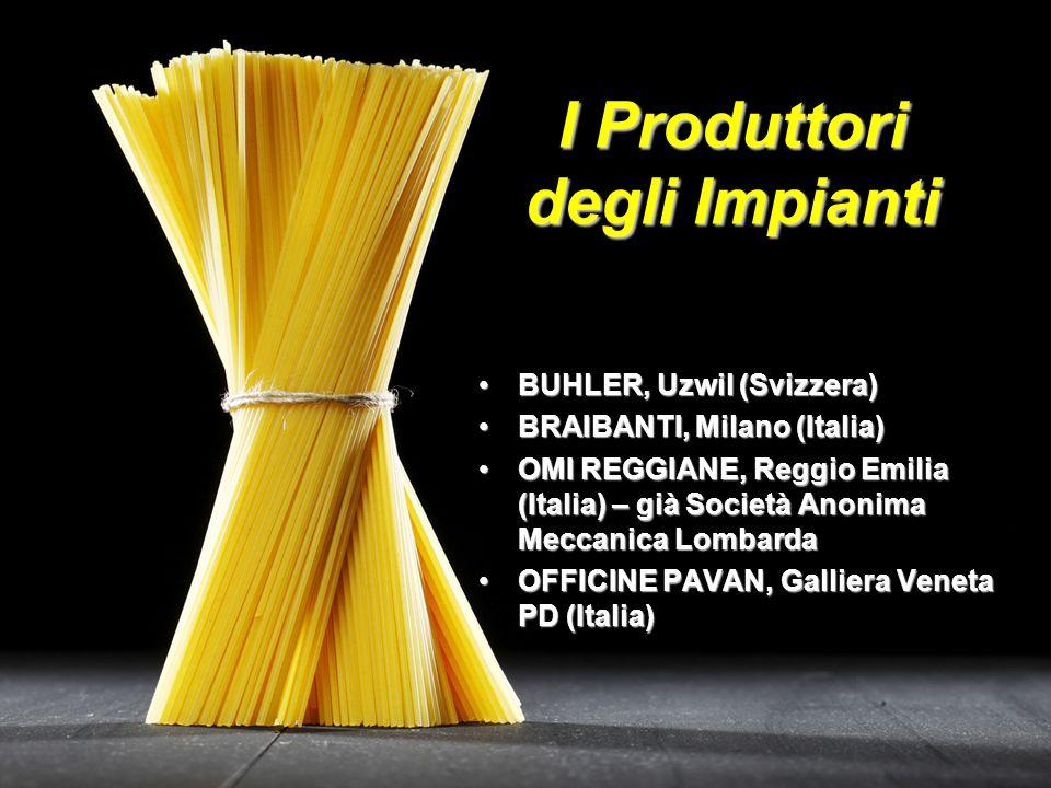 I Produttori degli Impianti