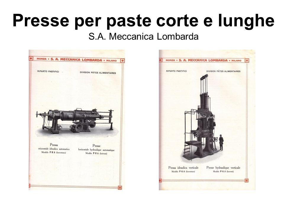 Presse per paste corte e lunghe S.A. Meccanica Lombarda