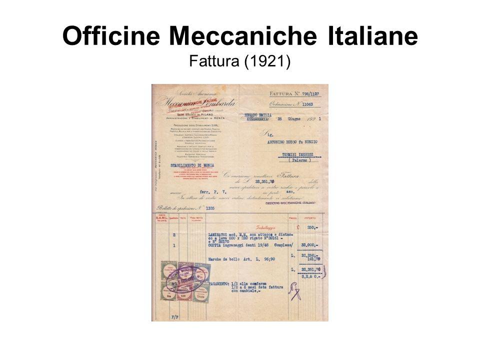 Officine Meccaniche Italiane Fattura (1921)