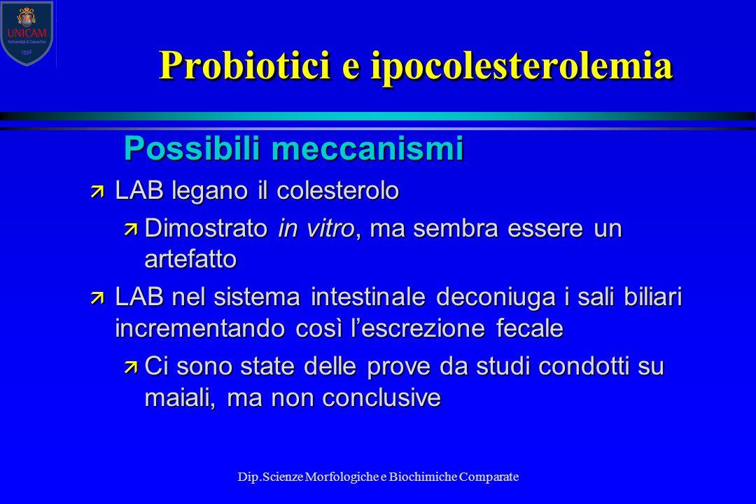 Probiotici e ipocolesterolemia