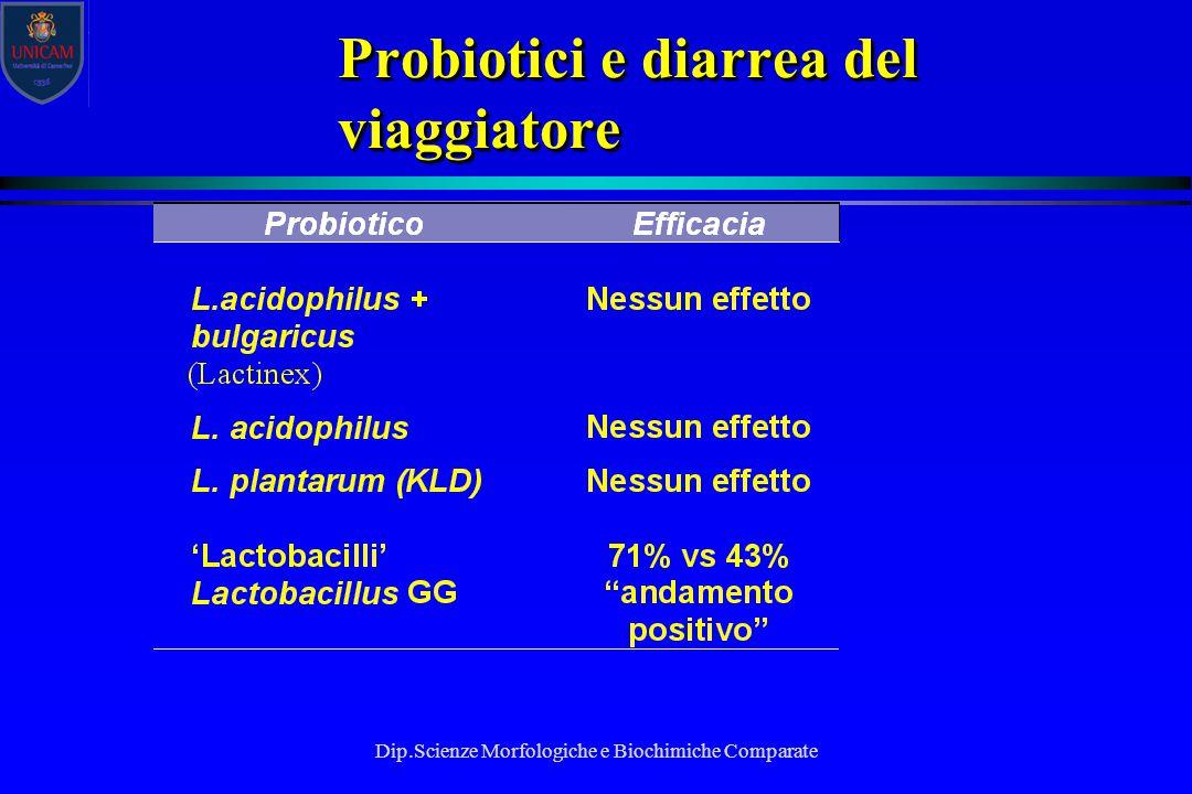 Probiotici e diarrea del viaggiatore