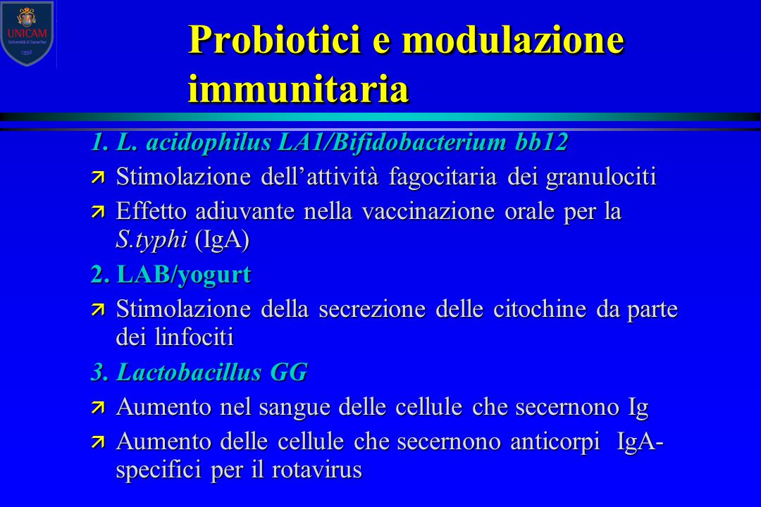 Probiotici e modulazione immunitaria