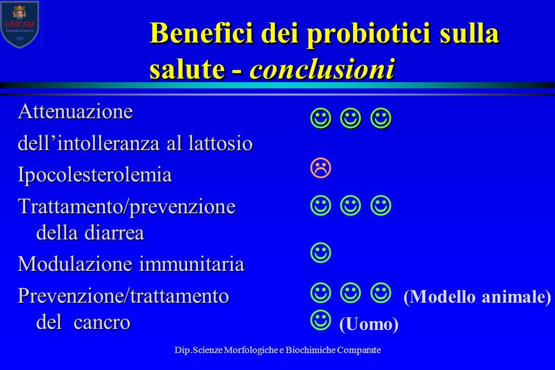 Benefici dei probiotici sulla salute - conclusioni