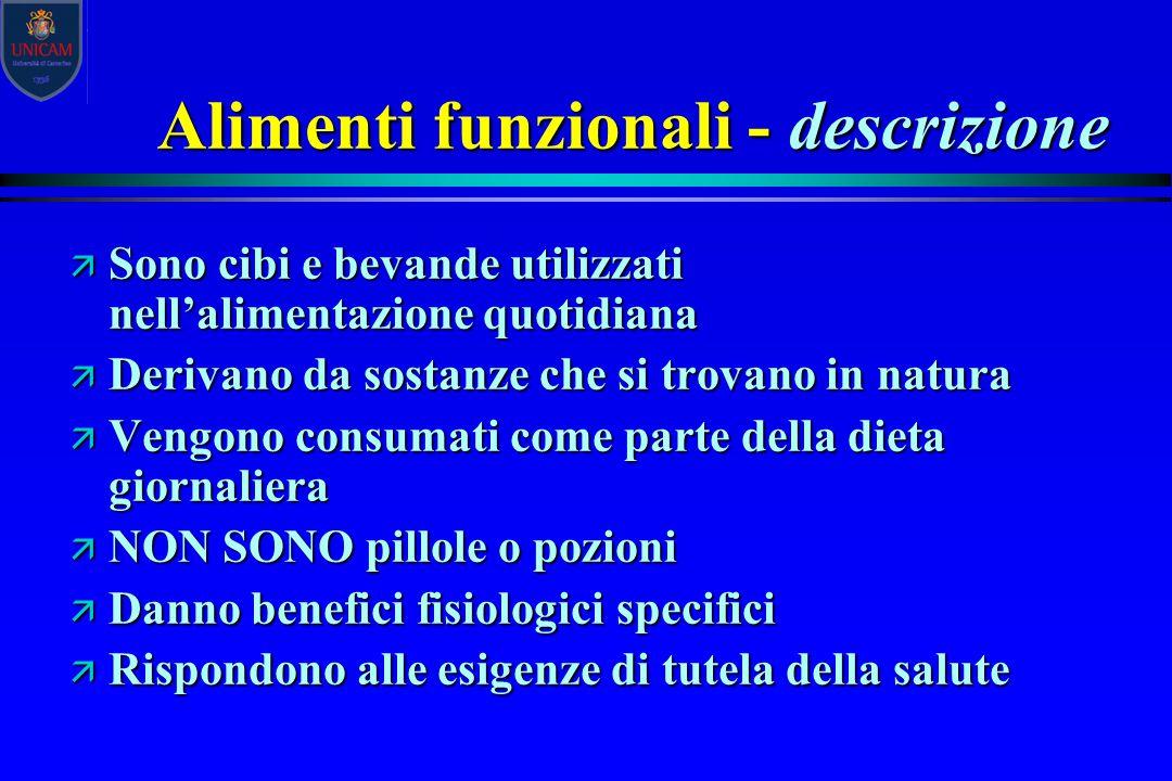 Alimenti funzionali - descrizione