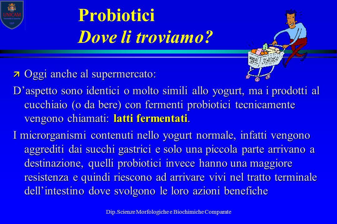 Probiotici Dove li troviamo