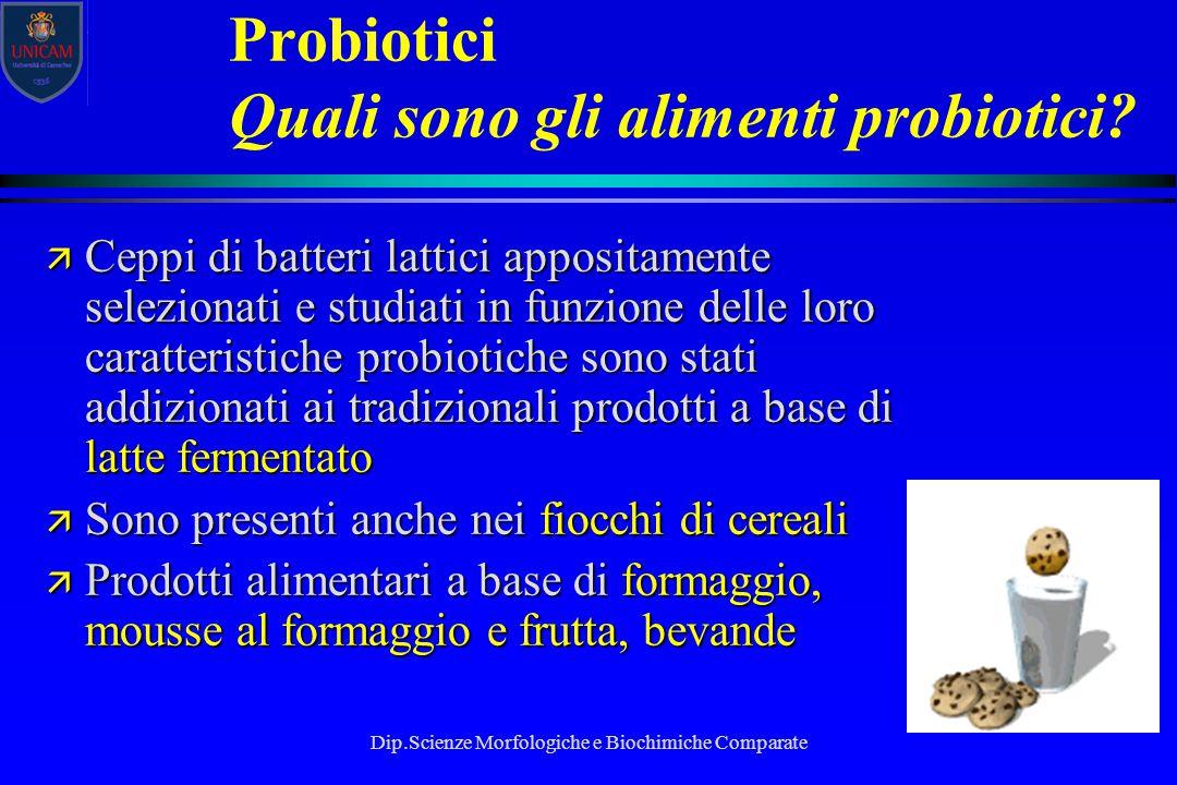 Probiotici Quali sono gli alimenti probiotici