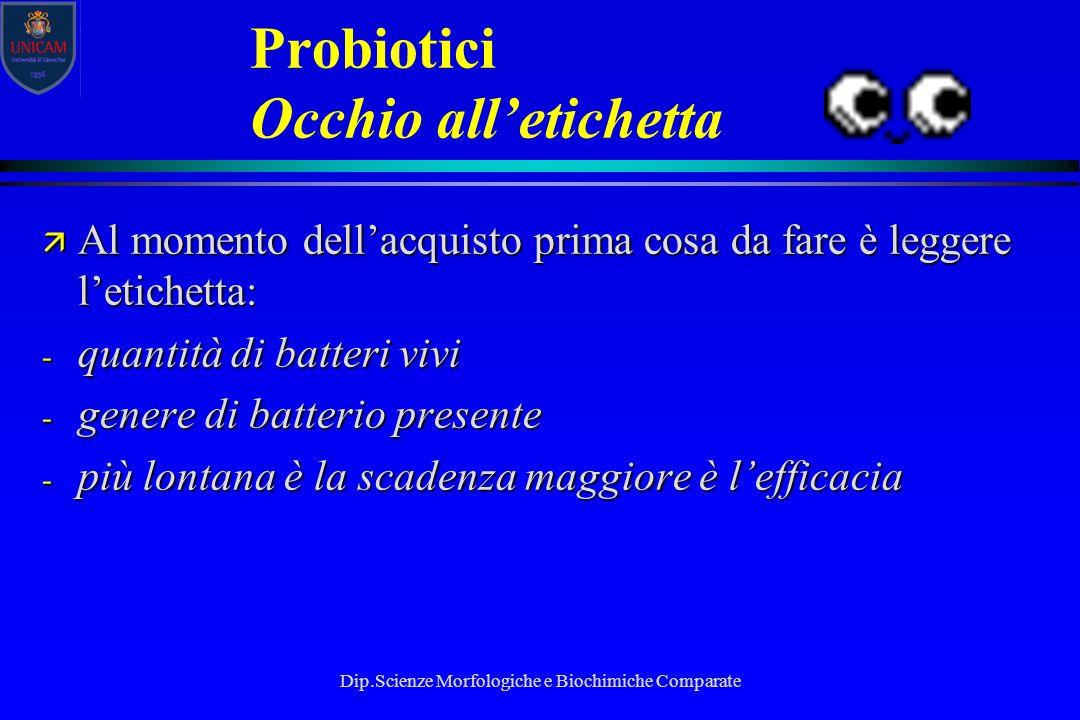 Probiotici Occhio all'etichetta