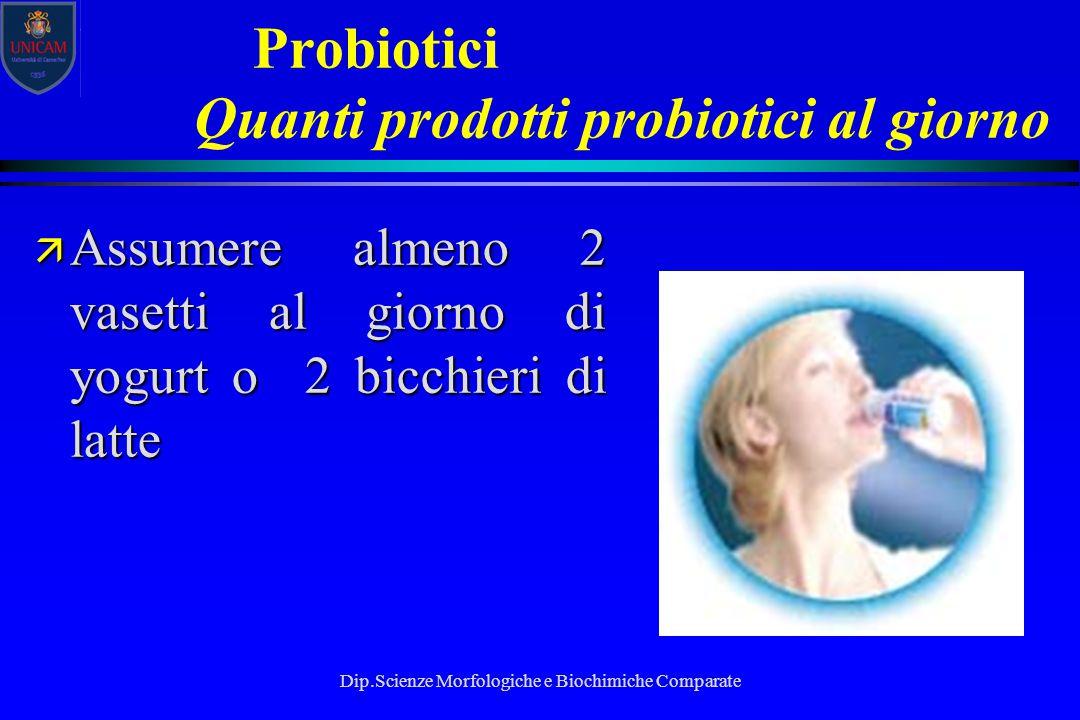 Probiotici Quanti prodotti probiotici al giorno