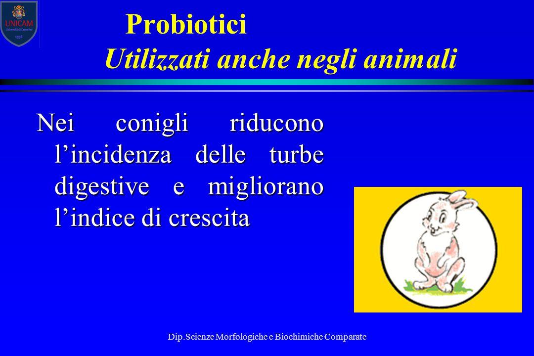 Probiotici Utilizzati anche negli animali
