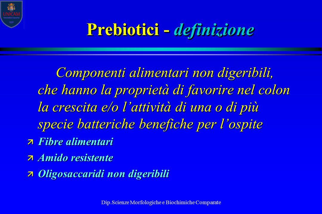 Prebiotici - definizione