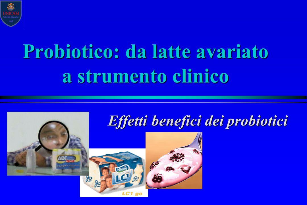 Probiotico: da latte avariato a strumento clinico