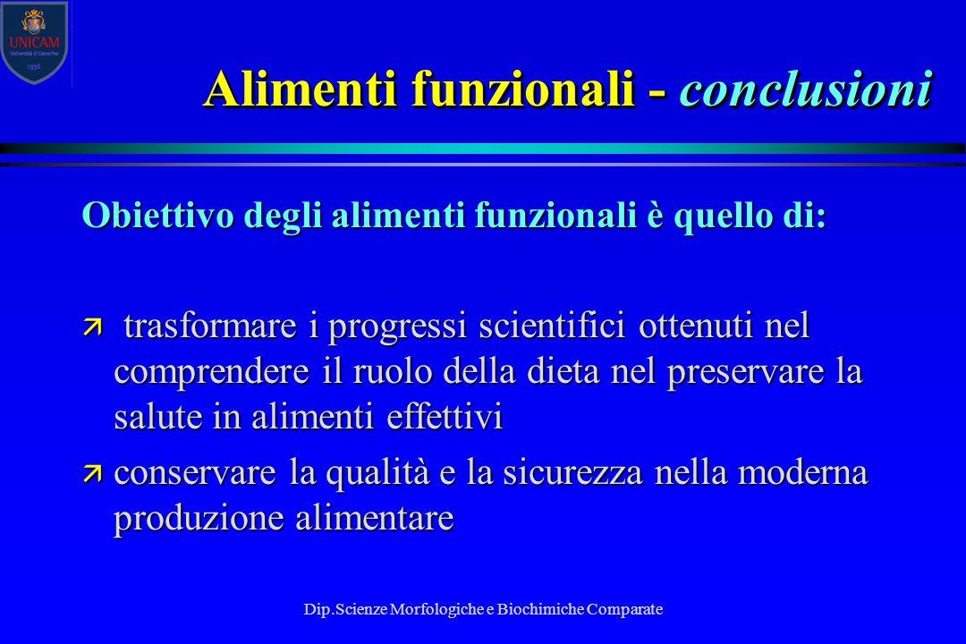 Alimenti funzionali - conclusioni