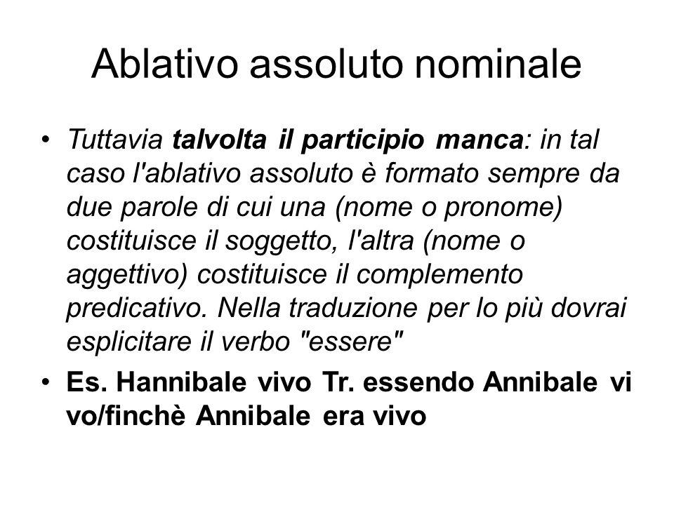 Ablativo assoluto nominale