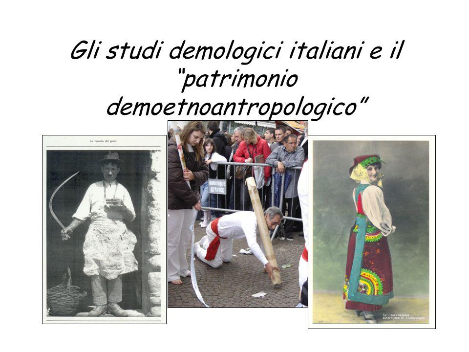 Gli studi demologici italiani e il patrimonio demoetnoantropologico
