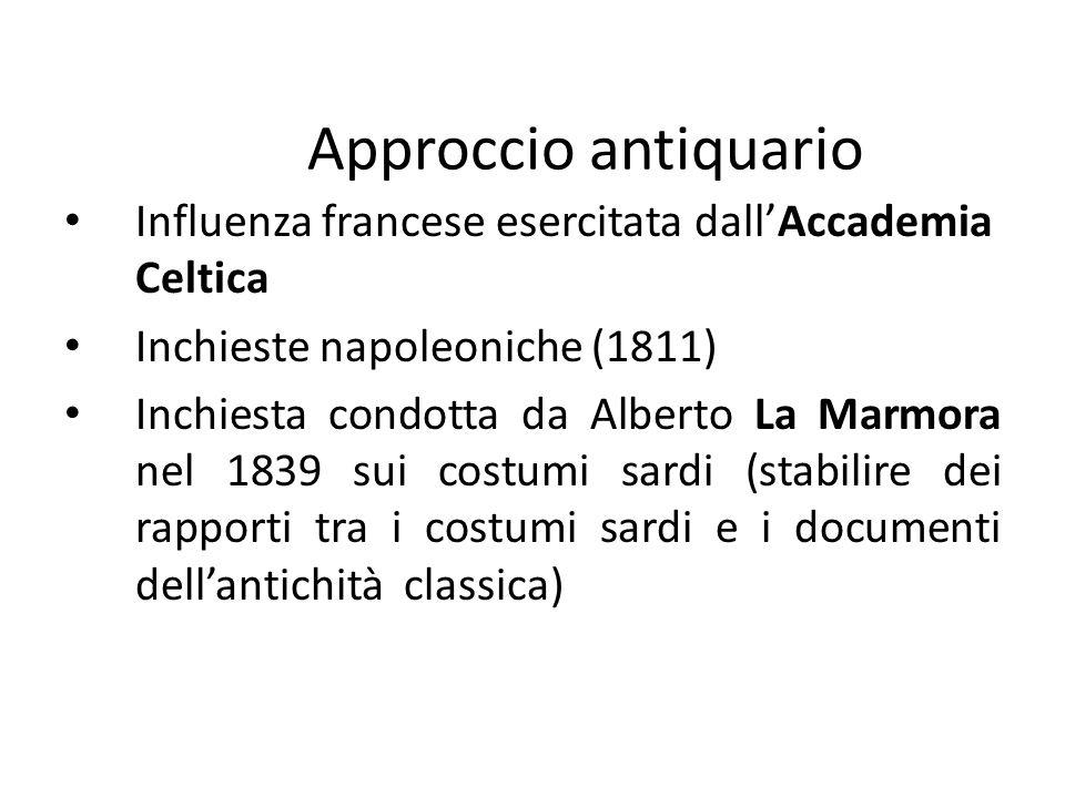 Approccio antiquario Influenza francese esercitata dall'Accademia Celtica. Inchieste napoleoniche (1811)