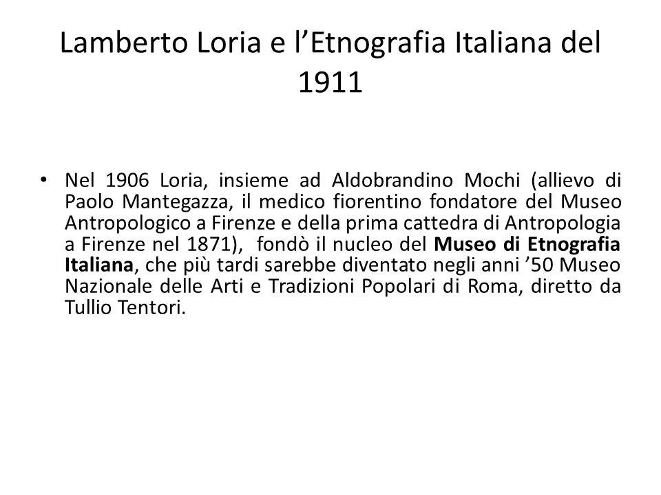 Lamberto Loria e l'Etnografia Italiana del 1911