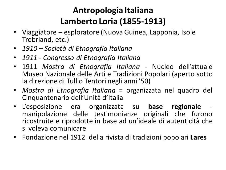 Antropologia Italiana Lamberto Loria (1855-1913)