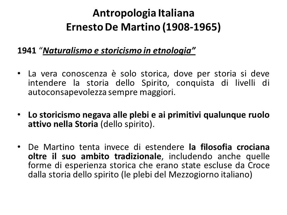 Antropologia Italiana Ernesto De Martino (1908-1965)