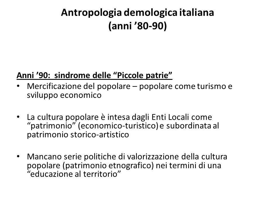 Antropologia demologica italiana (anni '80-90)