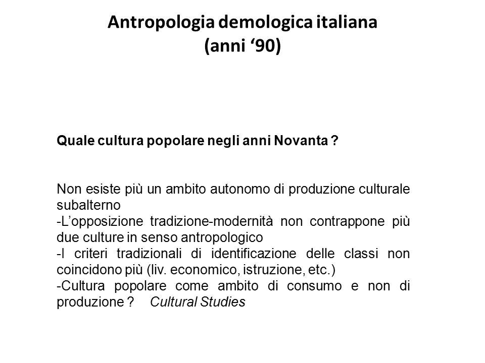 Antropologia demologica italiana (anni '90)