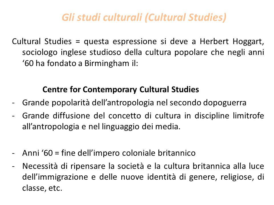 Gli studi culturali (Cultural Studies)