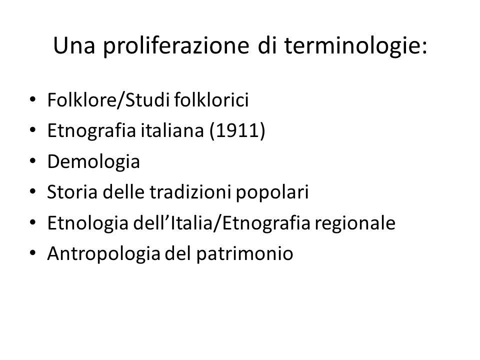 Una proliferazione di terminologie: