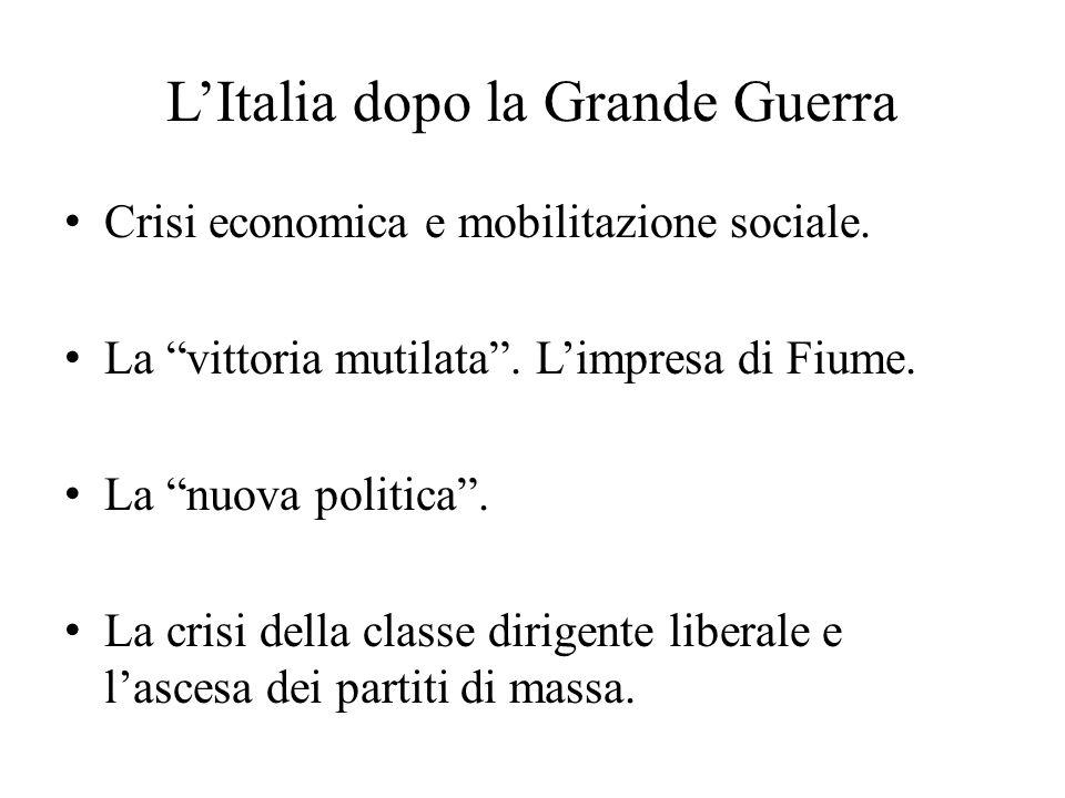 L'Italia dopo la Grande Guerra