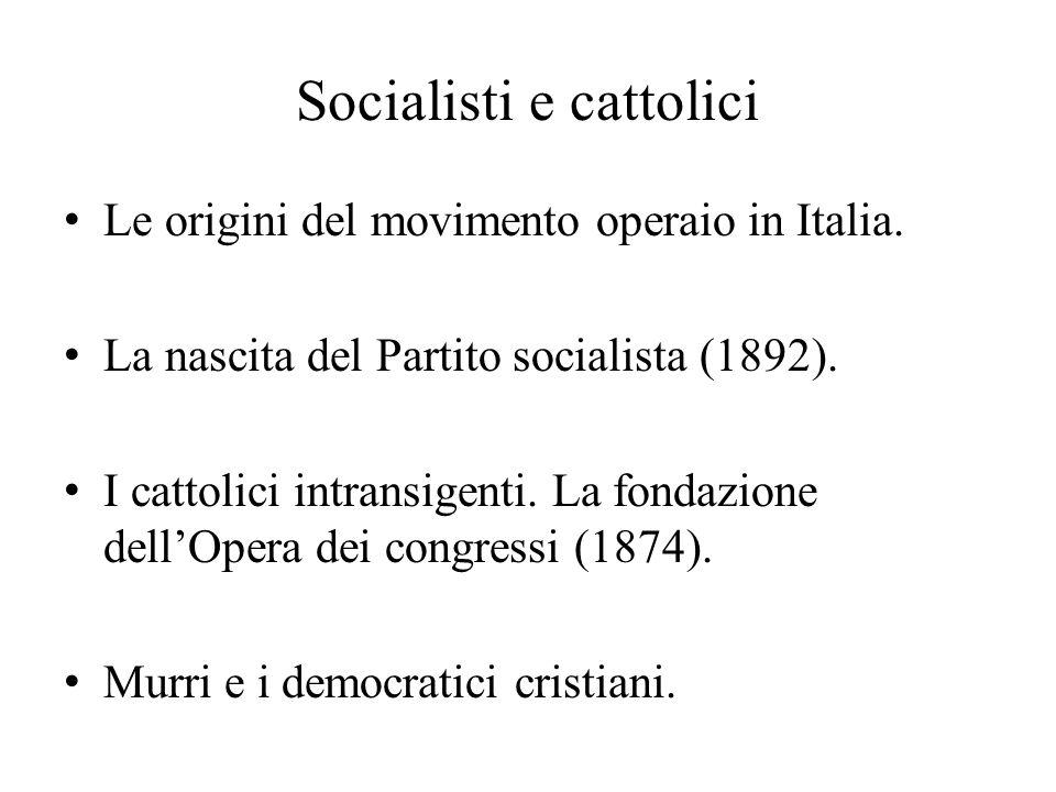 Socialisti e cattolici