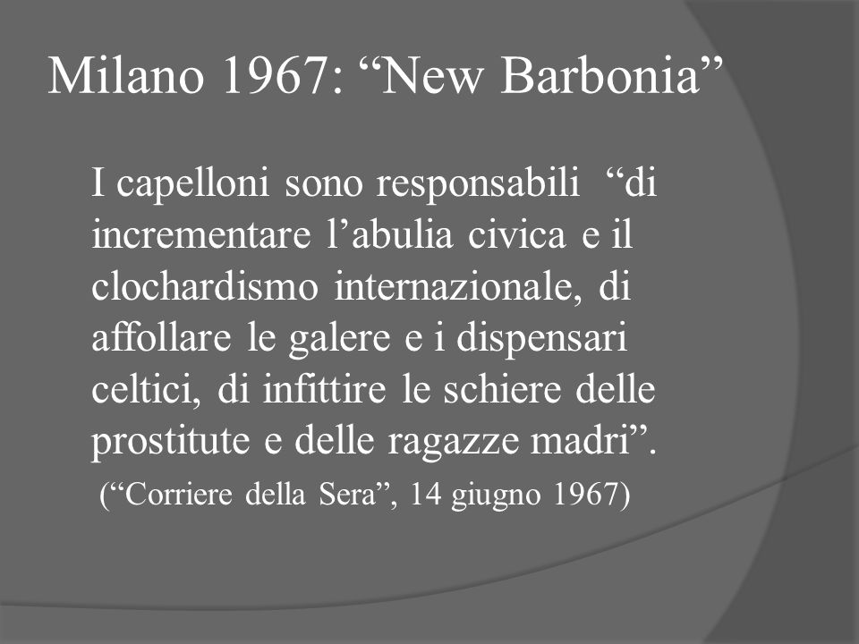 Milano 1967: New Barbonia