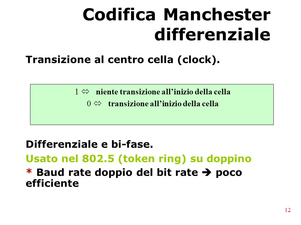 Codifica Manchester differenziale
