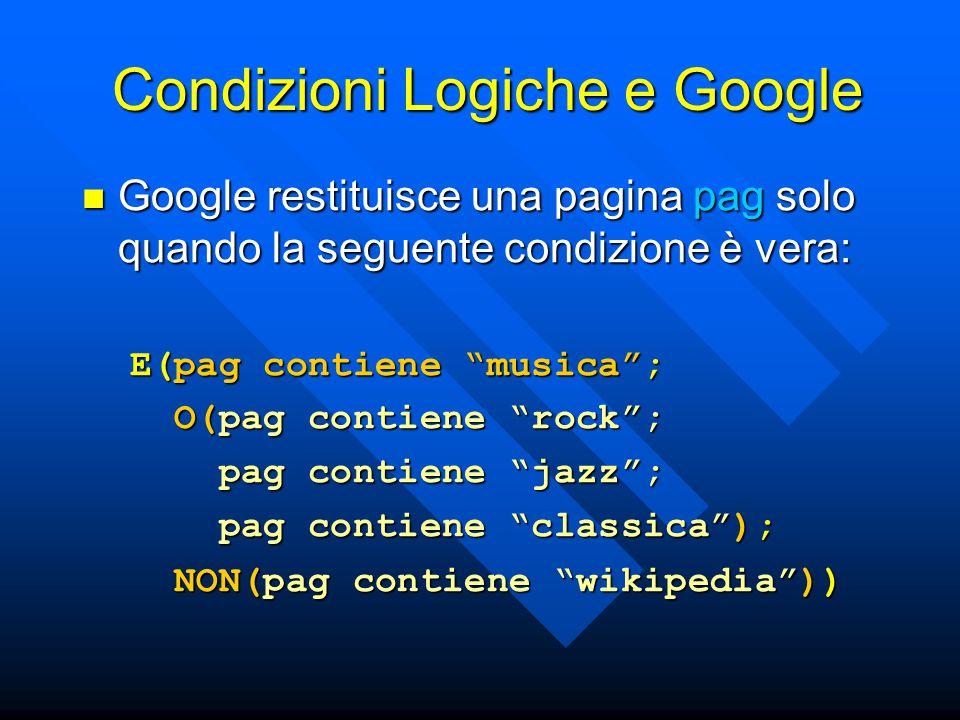 Condizioni Logiche e Google