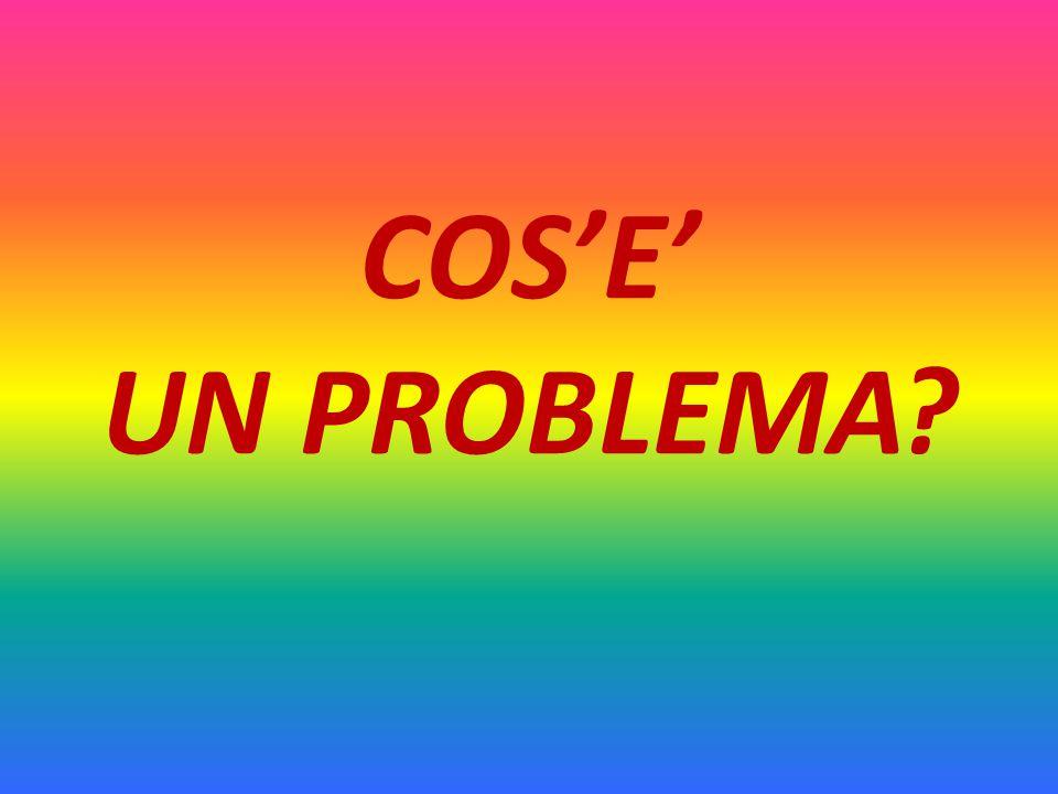 COS'E' UN PROBLEMA