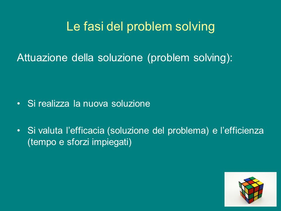 Le fasi del problem solving