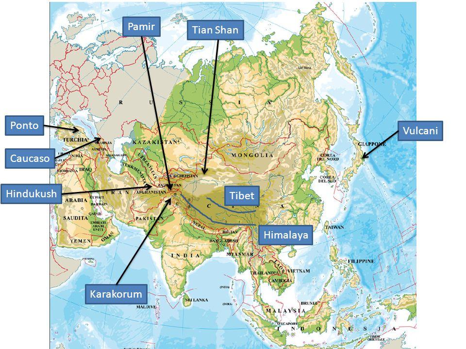 Pamir Tian Shan Ponto Vulcani Caucaso Hindukush Tibet Himalaya Karakorum