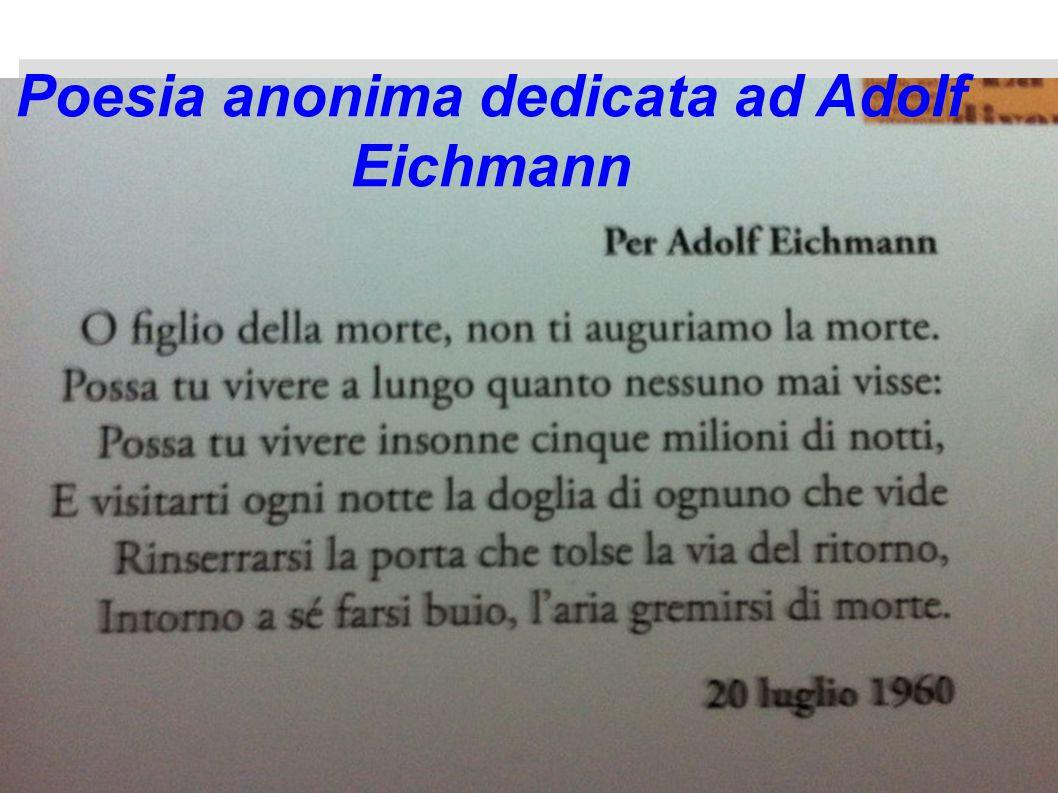 Poesia anonima dedicata ad Adolf Eichmann