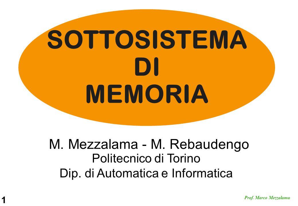 SOTTOSISTEMA DI MEMORIA