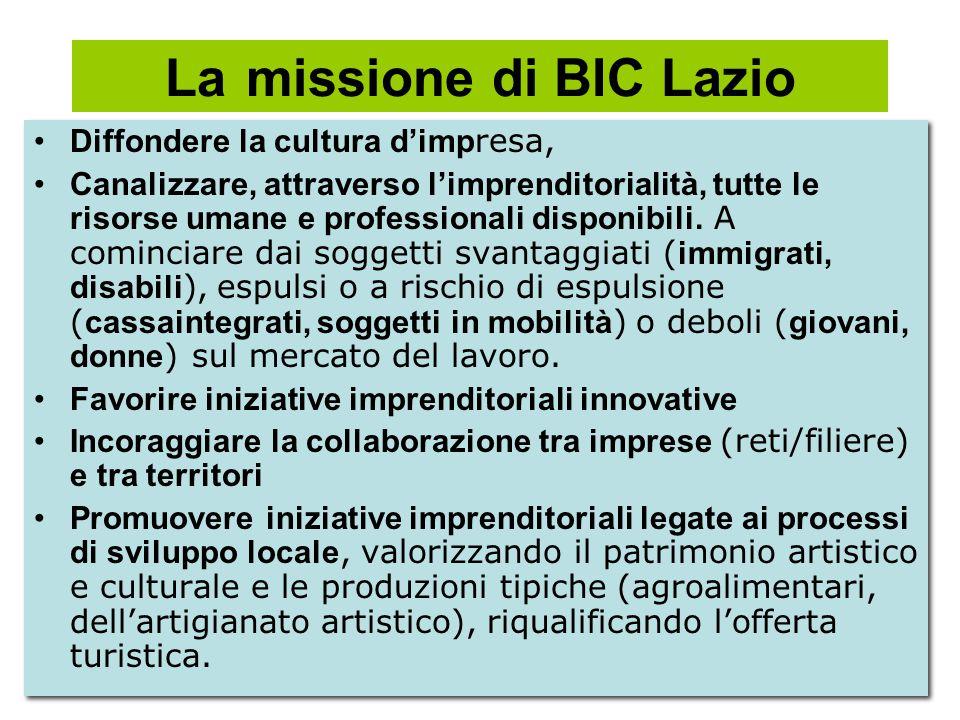 La missione di BIC Lazio