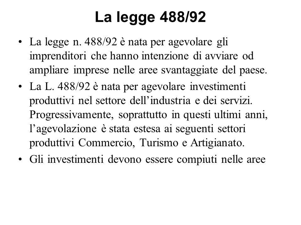 La legge 488/92