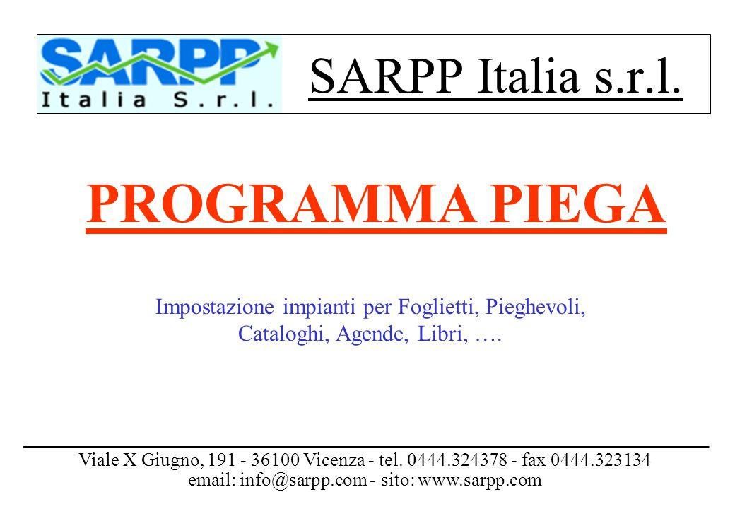 PROGRAMMA PIEGA SARPP Italia s.r.l.