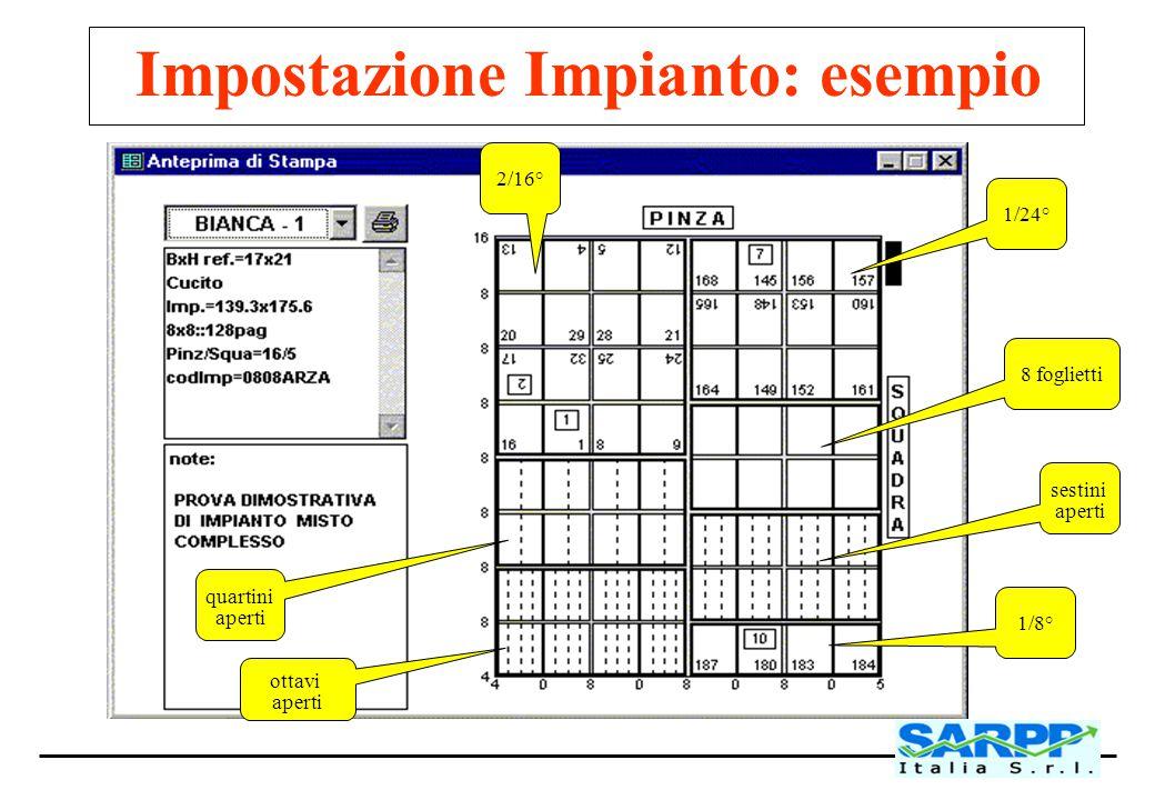 Impostazione Impianto: esempio
