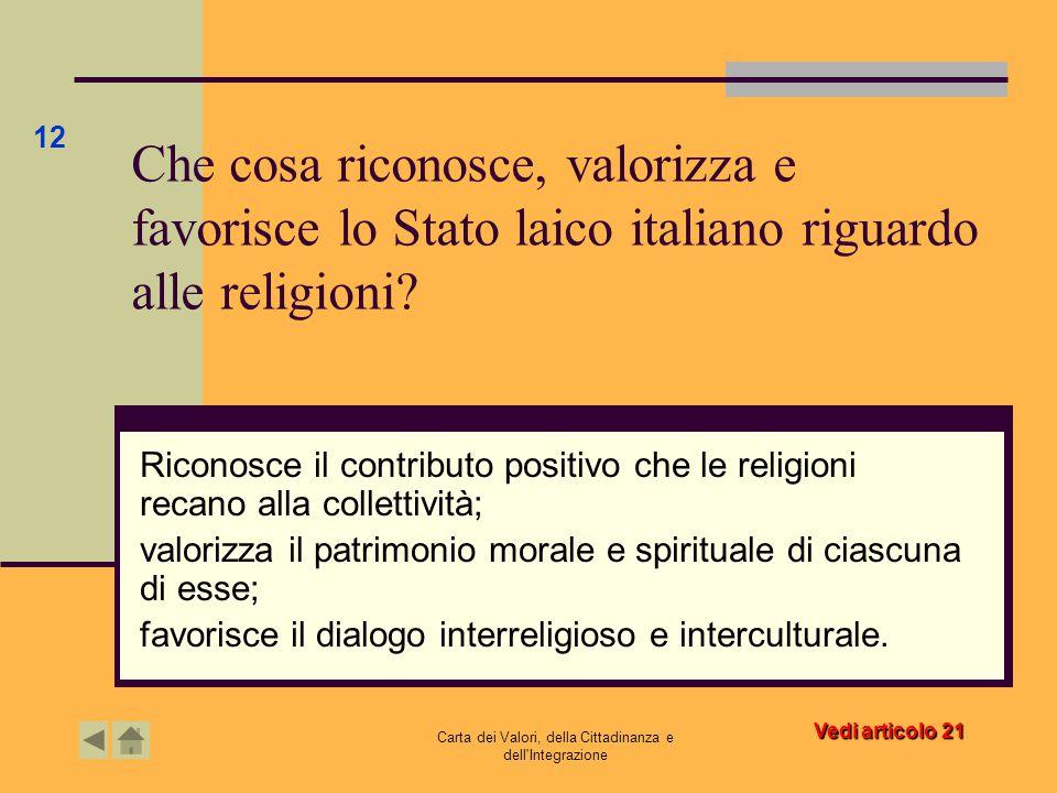 Carta dei Valori, della Cittadinanza e dell Integrazione