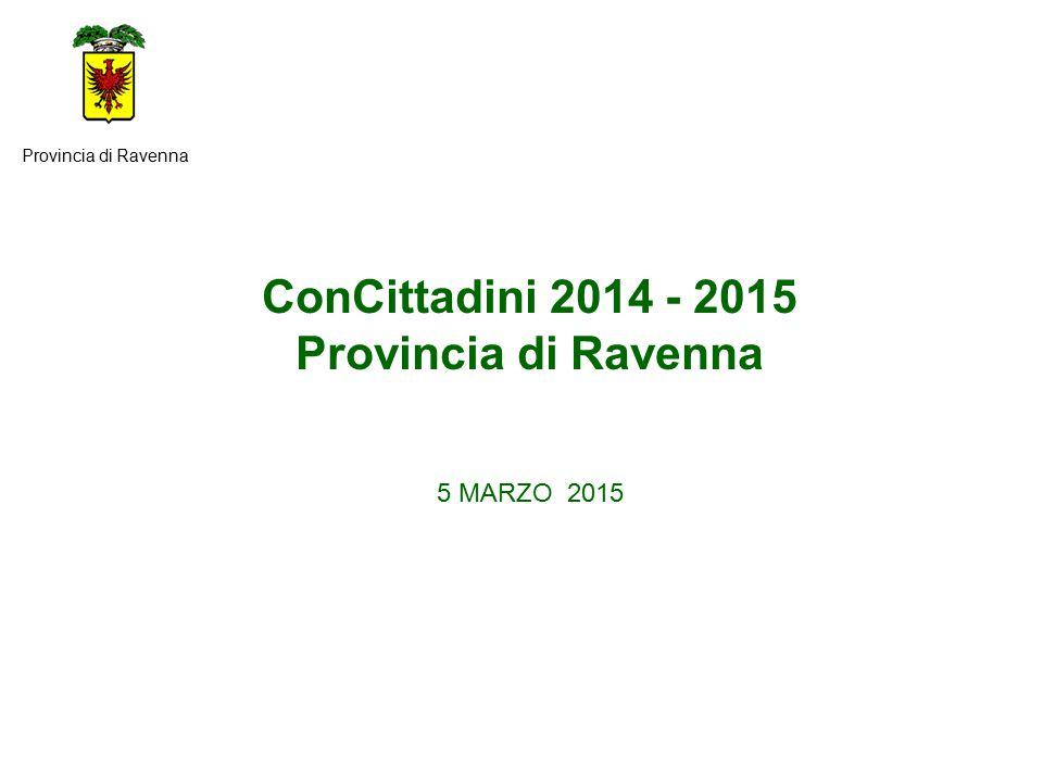 ConCittadini 2014 - 2015 Provincia di Ravenna 5 MARZO 2015