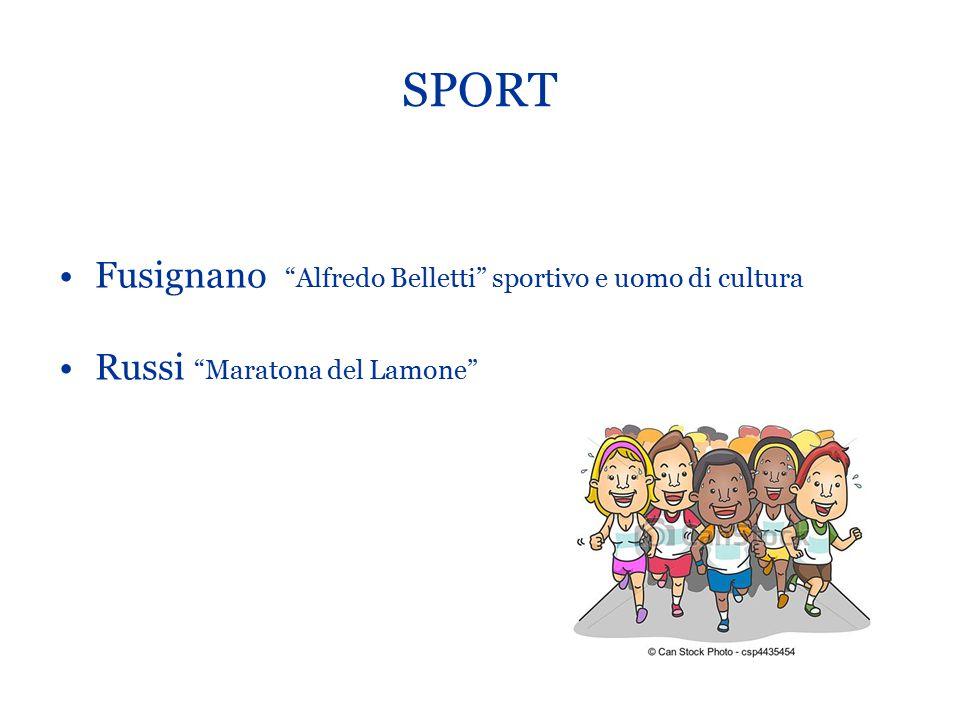 SPORT Fusignano Alfredo Belletti sportivo e uomo di cultura
